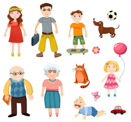 grandparent: family set Illustration