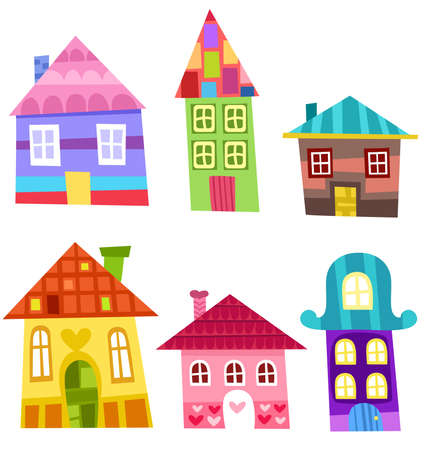houses set Vector