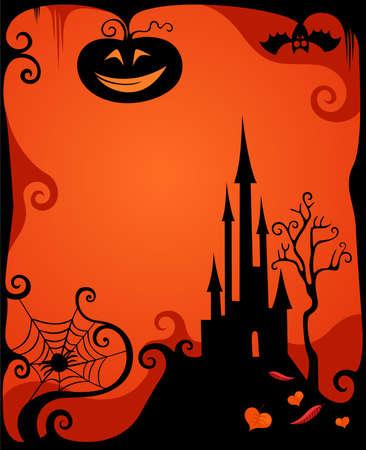 halloween card Vector