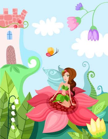 fairy illustration Vector