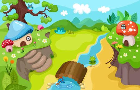 příroda: příroda na pozadí Ilustrace