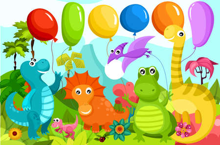 petrifying: dinosauer illustration Illustration