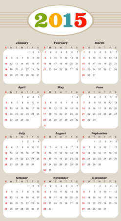 illustration of a calendar template Vector