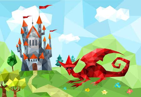 to polygons: Castillo Vectores