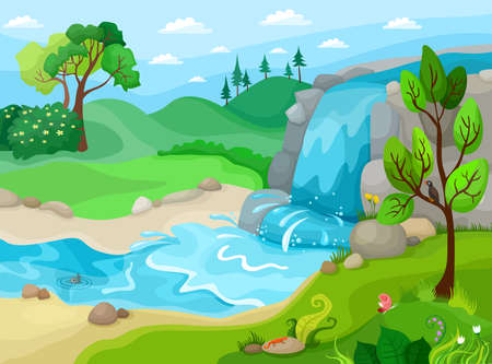 butterfly vector: Waterfall