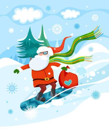 heart month: Christmas illustration