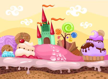 sweet landscape Ilustração
