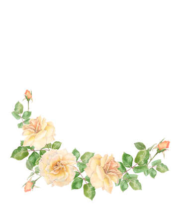 delicate cream roses for a wedding wreath