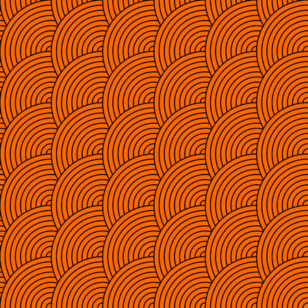 squama: Vector seamless pattern of semi circles in squama style. Abstract geometric background