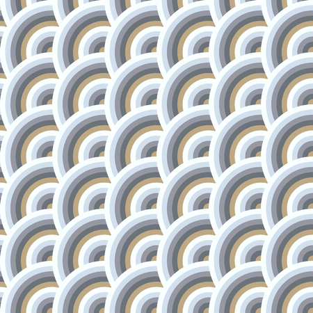 squama: Vector seamless pattern of semi circles in squama style. Abstract geometric background in pastel colors. Illustration