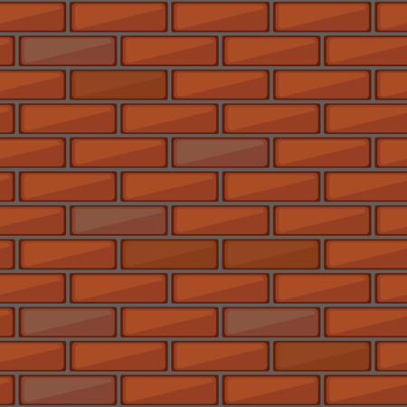 concrete block: Red brick wall seamless pattern. Vector background Illustration