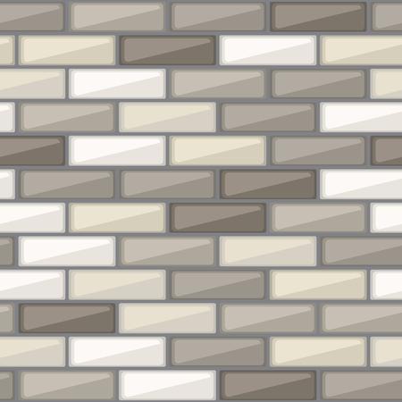 Mosaikfliesen nahtlose Vektor Hintergrund. Abstrakte grafische Muster mit bunten Ziegel-Elementen. Vektor-Illustration