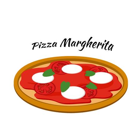 margherita: Pizza margherita with mozzarella, tomato sauce and oregano.