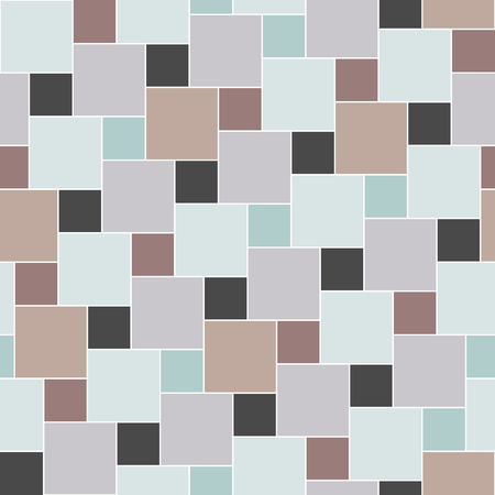 pastel colored: Vector pastel colored tiles seamless pattern, square grid textile print, abstract texture for fashion design