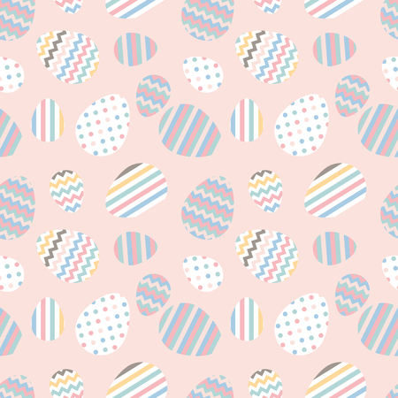 Pattern with Easter eggs. Illustration