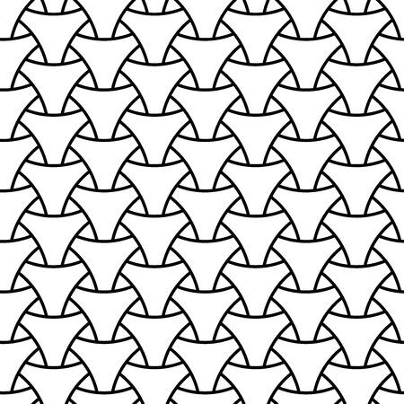 シームレスな細工三角形サーフェスパターン。黒と白のベクトルグラフィック。●ホワイトの背景に白のフィギュアを重ねて連結。  イラスト・ベクター素材
