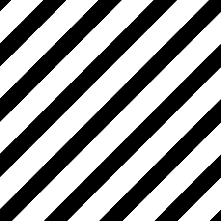 Straight diagonal lines, simple seamless striped pattern, black and white texture, vector background