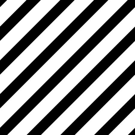 Líneas diagonales rectas, patrón de rayas sin costura simple, textura blanco y negro, vector de fondo