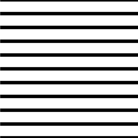Straight horizontal lines, simple seamless striped pattern, black and white texture, vector background