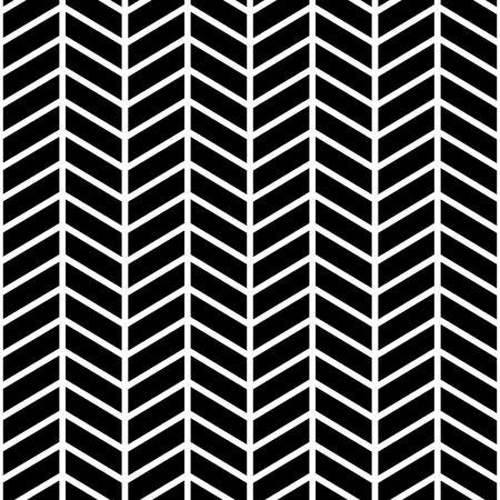 Classic chevron zigzag seamless pattern. Memphis group style black and white background Illustration