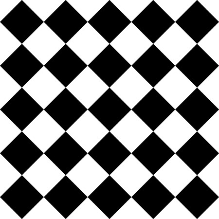 Geometric Seamless Chess Pattern With Squares, Memphis group style black and white background Illustration