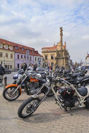 different motorbikes on square, Podebrady 新聞圖片