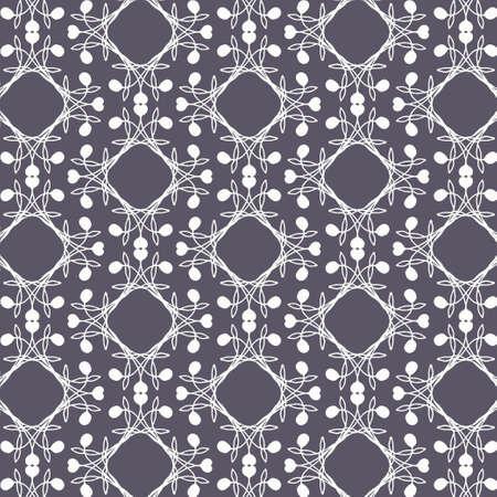 Purple Lace Repeat Pattern Çizim