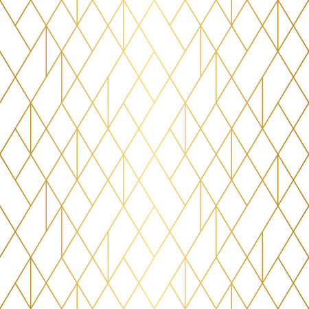 Geometric gold line pattern on white background. Ideal for backgrounds.