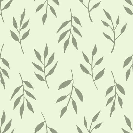 Seamless botanical vector pattern. Ideal for backgrounds or textiles.