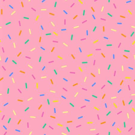 Wzór kropi bezszwowe kolory cukierków. Idealny do tła, papieru do pakowania, kart itp. Ilustracje wektorowe