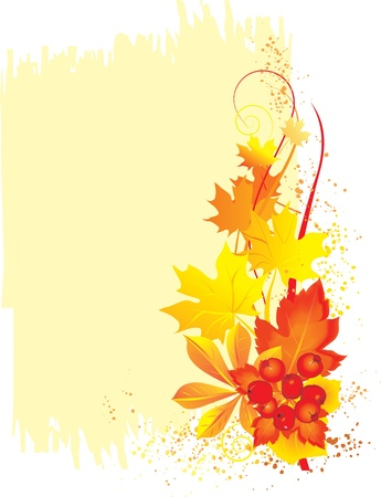 Vector illustration contains the image of  Autumn frame Illustration