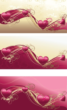 vector illustration contains the image of Grunge floral decorative pattern and valentine heart Vector