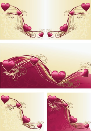 vector illustration contains the image of Grunge floral decorative pattern and valentine heart