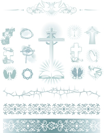 religions simbol  icons and pattern Vector