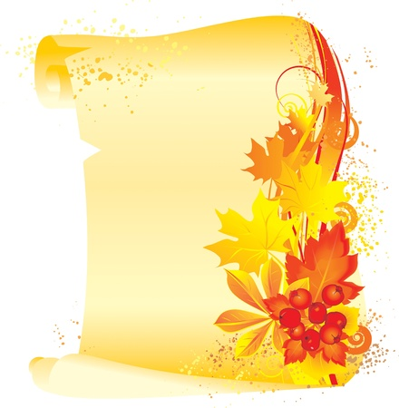 illustration contains the image of  Autumn background Vector