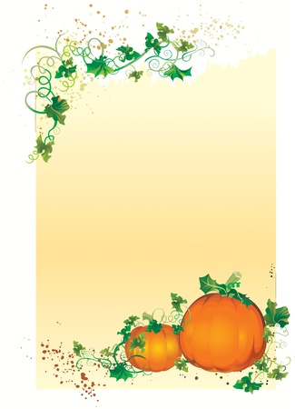 illustration contains the image of Autumn congratulatory card Illustration