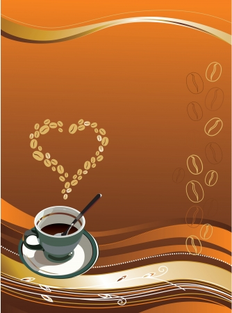 illustration contains the image of coffee cup  Vector