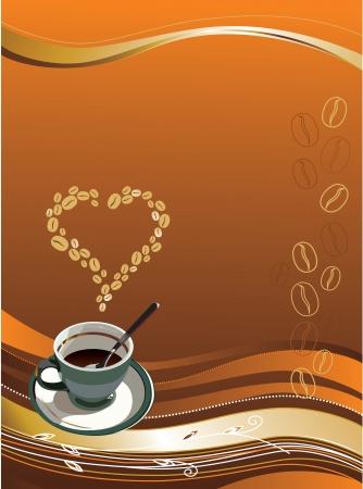 cafe colombiano: ilustración contiene la imagen de la taza de café