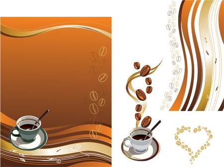 cafe colombiano: Ilustración del vector contiene la imagen de la taza de café y la textura del café Vectores