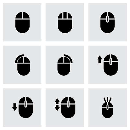 Vector computer mouse icon set on grey background Vector