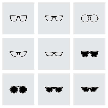 health care decisions: Vector glasses icon set on grey background Illustration