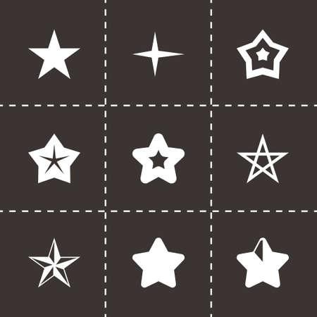 Vector stars icon set on black background Vector