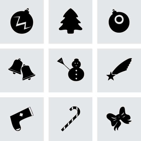 cristmas: Vector cristmas icons set on grey background