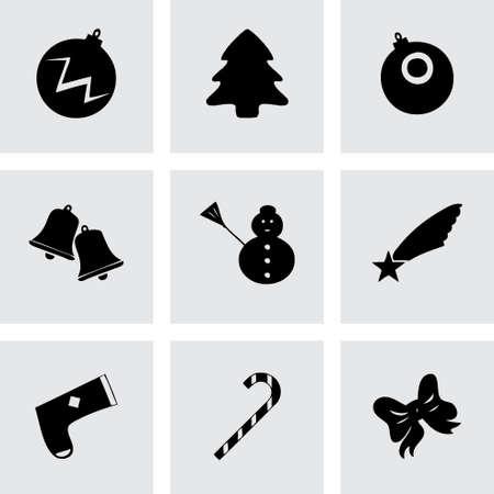 cristmas: Vector cristmas icons set on grey background