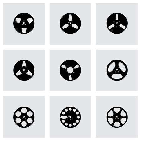 Vector ribbon icon set on grey background Vector