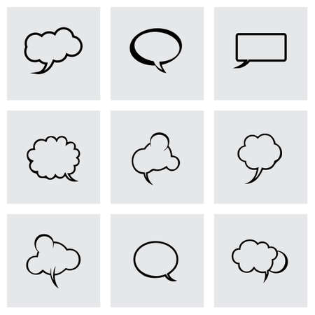 laugh out loud: Vector speech bubbles icon set on grey background