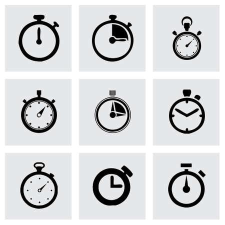cronometro: Vector icono cron�metro situado en el fondo gris Vectores