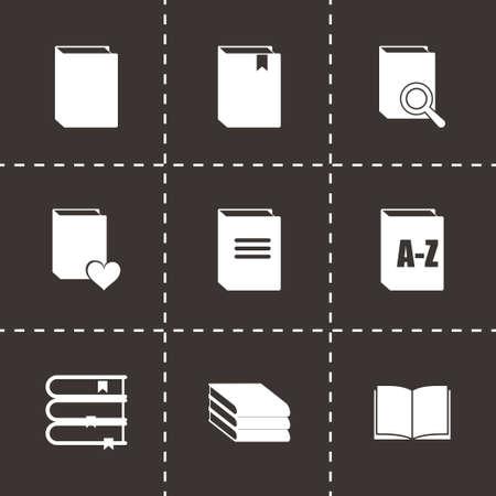videobook: book icon set on black background