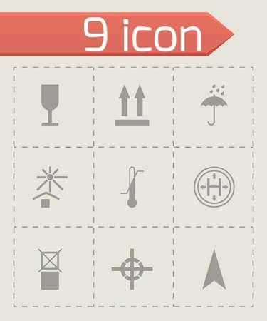 marking: black marking of cargo icons set on grey background