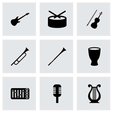 violin player: music instruments icon set on grey background Illustration